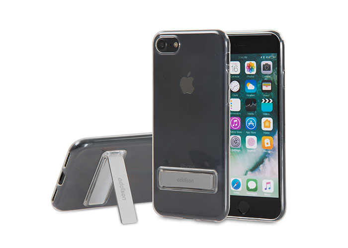 Addison IP-714 Kristal Seri Gri iPhone7 Stnd Ultra İnce Koruma Kılıfı