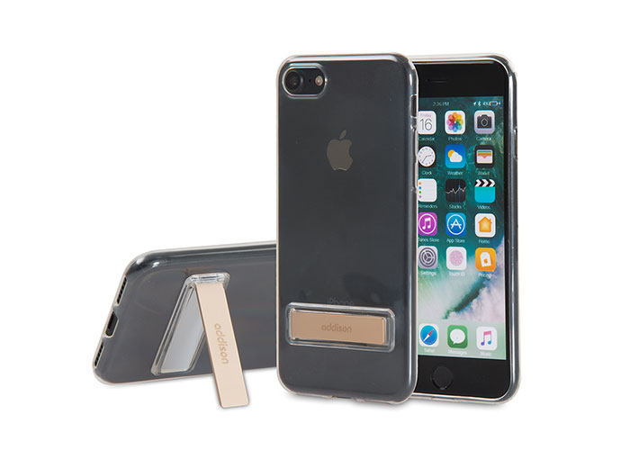 Addison IP-714 Kristal Seri Gold iPhone7 Stnd Ultra İnce Koruma Kılıfı