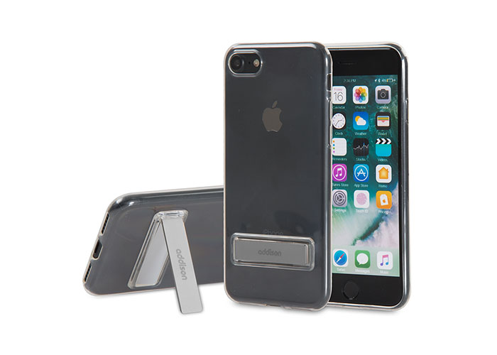 Addison IP-714 Crystal Series Black iPhone7 Stnd Ultra Thin Protection Case