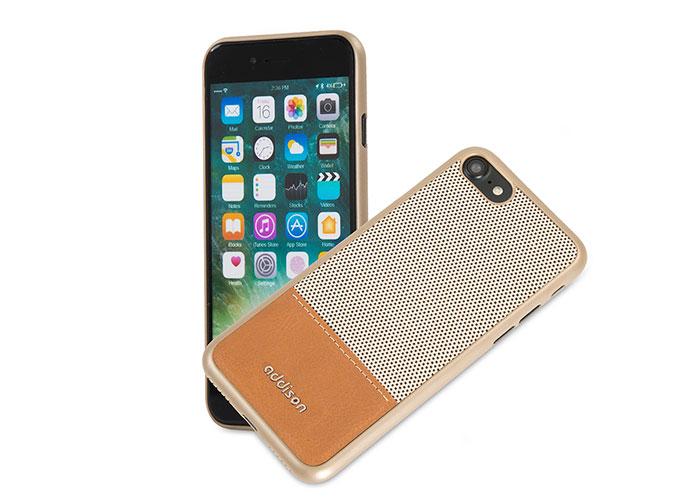 Addison IP-718 Gold iPhone7 Stil Manyetik Koruma Kılıfı