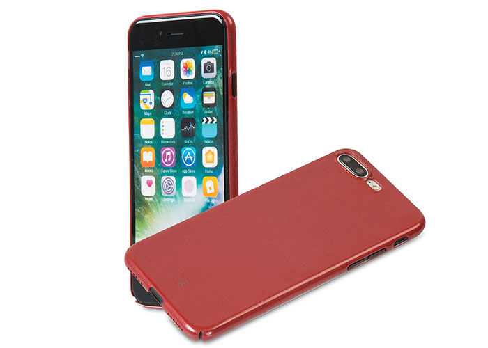 Addison IP-721P Metalik Bordo iPhone7 Plus Nano Serisi Koruma Kılıfı