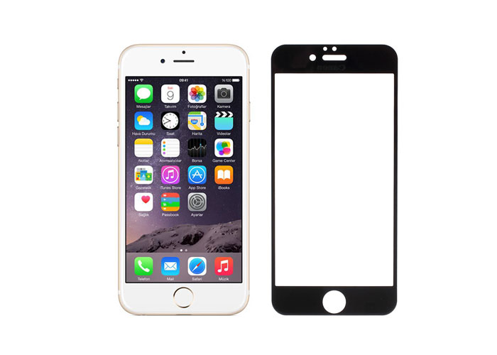 Addison IP-751 Tempered Glass 0.3mm Siyah iPhone 6 4.7 Cam Ekran Koruyucu