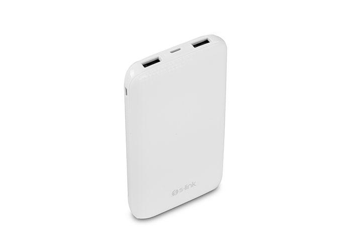 S-link IP-757 10000mAh 2.1A Çıkış Beyaz Taşınabilir Pil Şarj Cihazı
