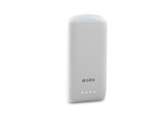 S-link IP-844 8000mAh Extra Slim Powerbank White Portable Battery Charger