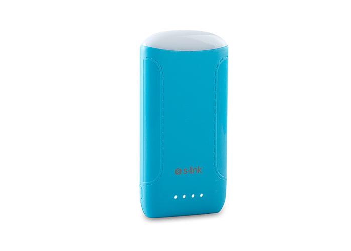 S-link IP-844 8000mAh Süper İnce Powerbank Mavi Taşınabilir Pil Şarj Cihazı