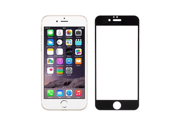 Addison IP-853 Tempered Glass 0.3mm Siyah iPhone 6S Full Cover Cam Ekran Koruyucu