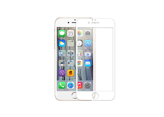 Addison IP-854 Tempered Glass 0.3mm Beyaz iPhone 6S Plus Full Cover Cam Ekran Koruyucu