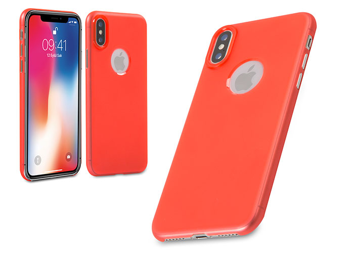 Addison IP-881 Kırmızı iPhone X Soft Telefon Kılıfı
