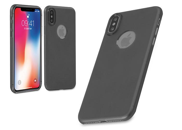 Addison IP-881 Siyah iPhone X Soft Telefon Kılıfı