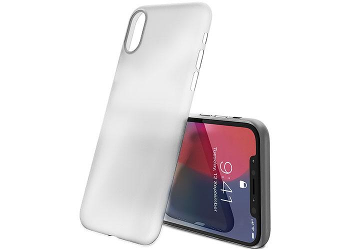 Addison IP-884 Şeffaf Beyaz iPhone X Telefon Kılıfı