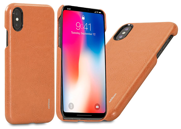 Addison IP-885 Haki iPhone X Deri Telefon Kılıfı