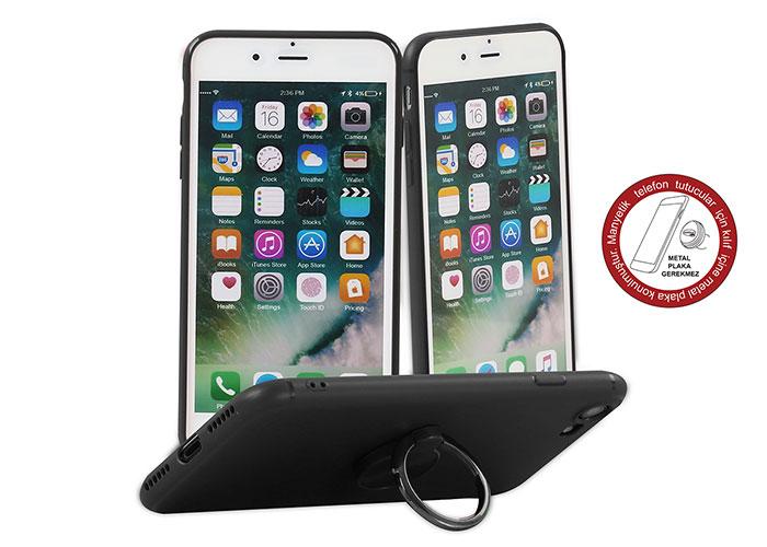 Addison IP-887 Soft Standlı Siyah iPhone 7/8 Telefon Kılıfı