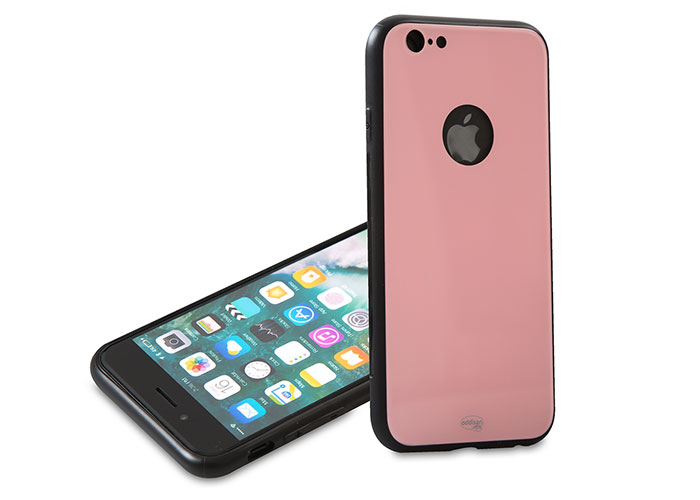 Addison IP-887S Pembe iPhone 6/6S Glass Telefon Kılıfı