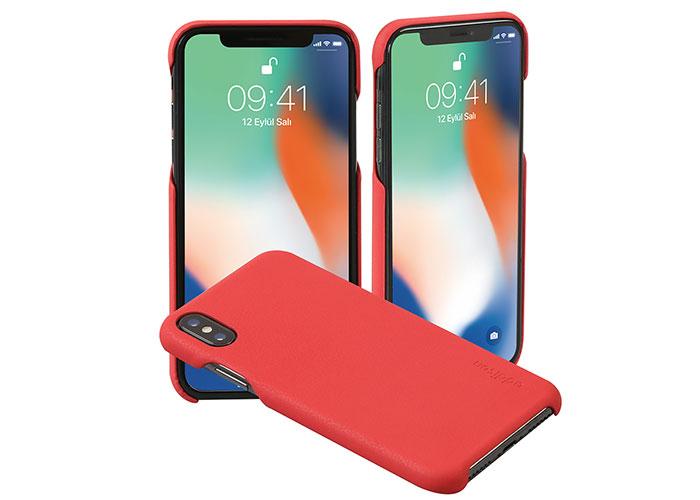 Addison IP-888 İnce İz Yapmaz Kırmızı iPhone X Telefon Kılıfı