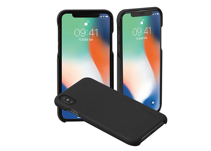 Addison IP-888 İnce İz Yapmaz Siyah iPhone X Telefon Kılıfı