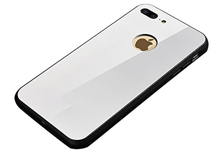Addison IP-889P Beyaz iPhone 8 Plus Glass Telefon Kılıfı