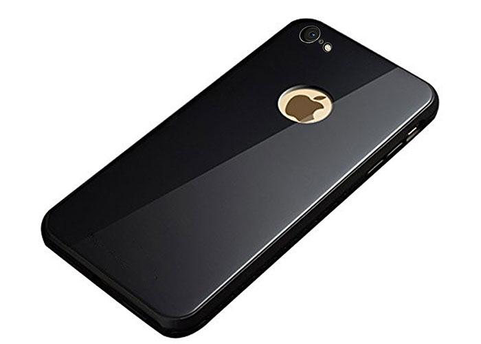 Addison IP-C889 Siyah iPhone 8 Glass Telefon Kılıfı
