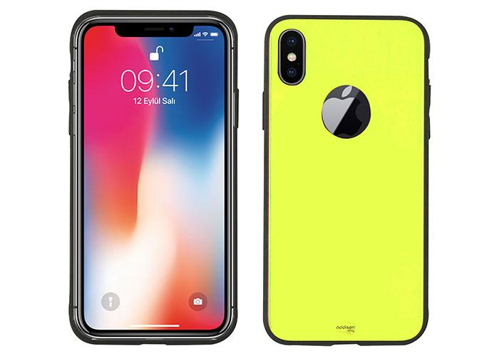 Addison IP-890 Yellow iPhone X Glass Phone Case