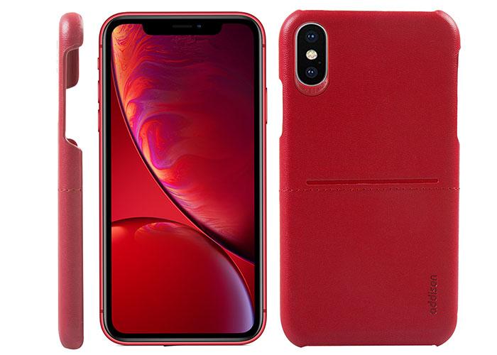 Addison IP-901 Kırmızı Iphone X/XS Deri Telefon Kılıfı