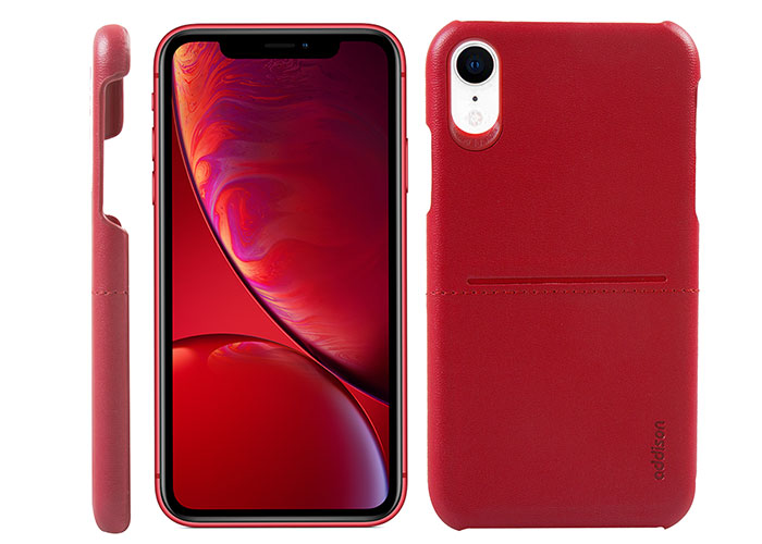 Addison IP-902 Red Iphone XR Leather Phone Case