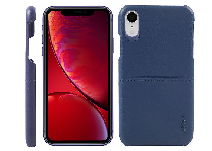 Addison IP-902 Lacivert Iphone XR Deri Telefon Kılıfı