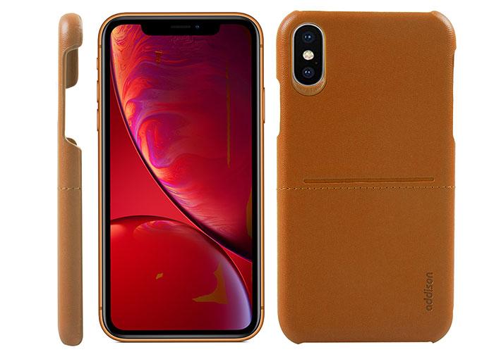 Addison IP-903 Kahverengi Iphone XS Max Deri Telefon Kılıfı