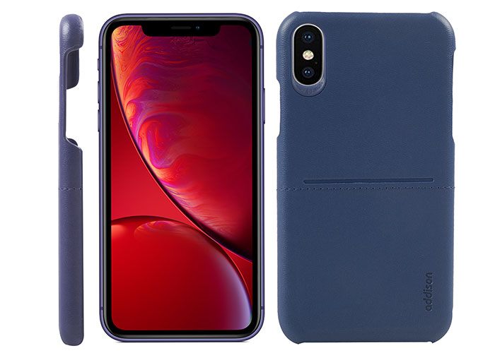 Addison IP-903 Navy Blue Iphone XS Max Leather Phone Case