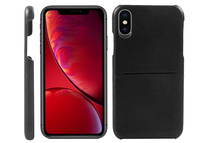 Addison IP-903 Siyah Iphone XS Max Deri Telefon Kılıfı