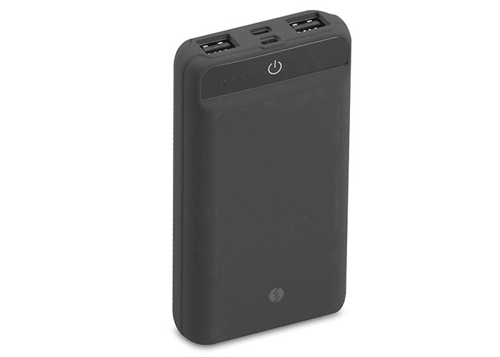 S-link IP-958 10000mAh Powerbank Dokunmatik Led Lamba Siyah Taşınabilir Pil Şarj Cihazı