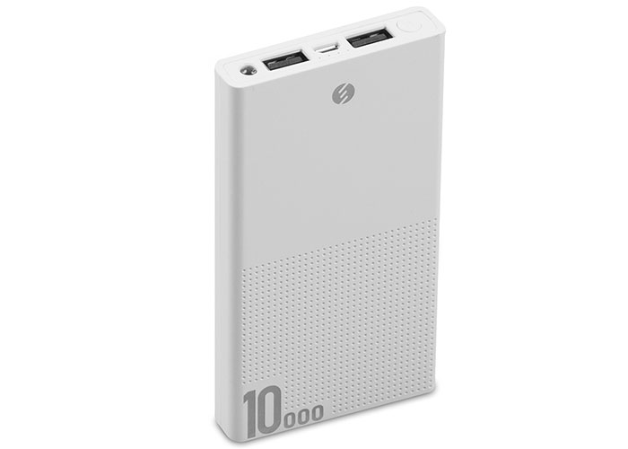 S-link IP-A100 10000mAh Powerbank White Portable Power Pack