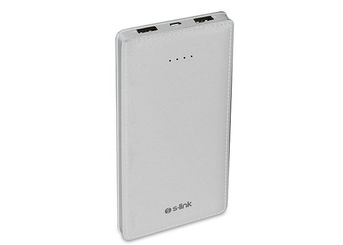 S-Link Swapp IP-AR12 12000mAh Powerbank Beyaz Taşınabilir Pil Şarj Cihazı