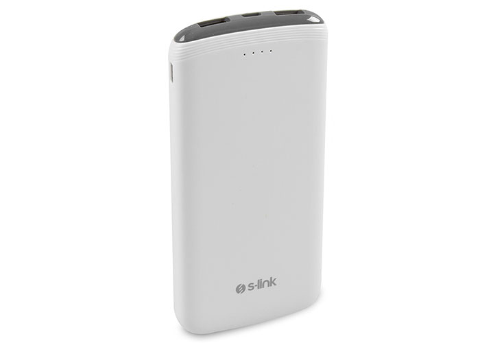 S-link IP-C69 10000mAh White / Gray Charging Powerbank  / Power Pack
