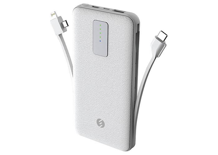 S-link IP-C70 10000mAh Lightning + Micro + Type C Powerbank Beyaz Taşınabilir Pil Şarj Cihazı
