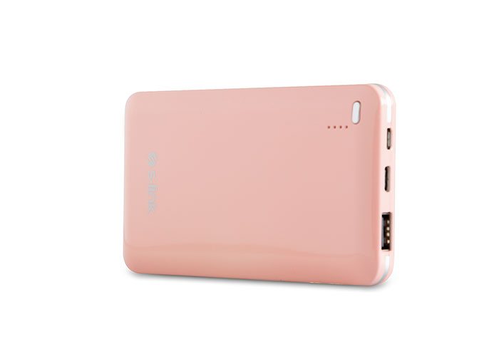 S-link Ip-G100 10000mAh Pink Portable Battery Charger
