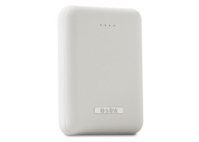 S-link IP-G11M 10000mAh Powerbank 2 Usb Port Beyaz Taşınabilir Pil Şarj Cihazı
