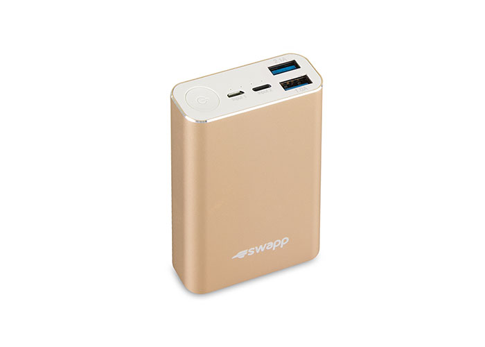 S-link Swapp IP-G15 10050mAh LG Battery 2XUSB 2.1A Powerbank Gold Portable Battery Chrager