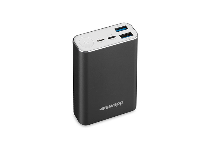 S-Link Swapp IP-G15 10050mAh LG Bataryalı 2xUsb 2.1A Powerbank Siyah . Taşınabilir Pil Şarj Cihazı