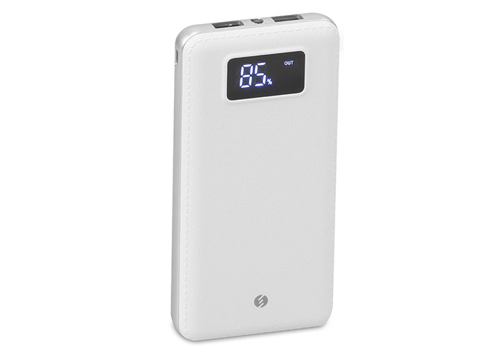 S-link IP-G18 12000mAh LCD Display Powerbank White Charging Powerbank  / Power Pack