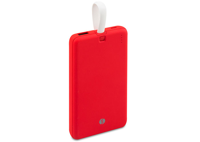 S-link IP-G19 10000mAh 1 Usb Port 2 in 1 Kablo Powerbank Kırmızı Taşınabilir Pil Şarj Cihazı