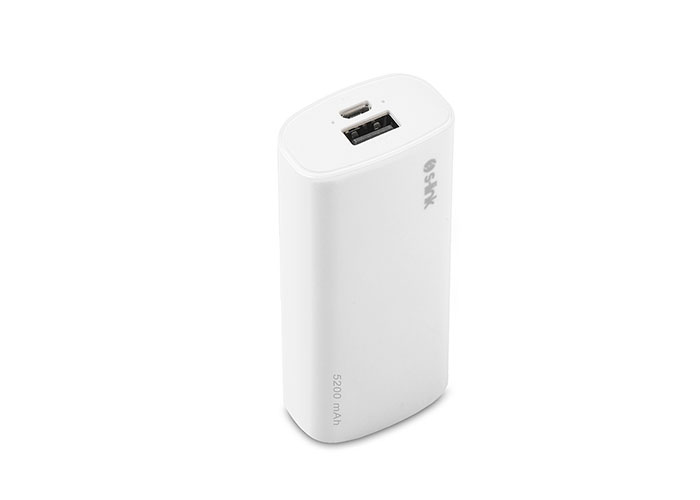 S-link IP-G52 5200mAh Powerbank Beyaz Taşınabilir Pil Şarj Cihazı