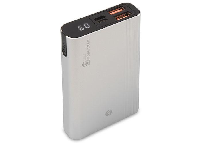 S-link IP-H18 10000mAh 3A Hızlı Şarj Type-C Powerbank Gümüş PD ve LCD Göstergeli Taşınabilir Pil Şarj Cihazı