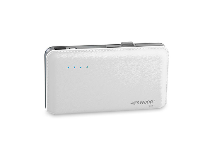 S-link Swapp IP-L48 9000mAh Super slim White LG Polymer Battery-powered Powerbank
