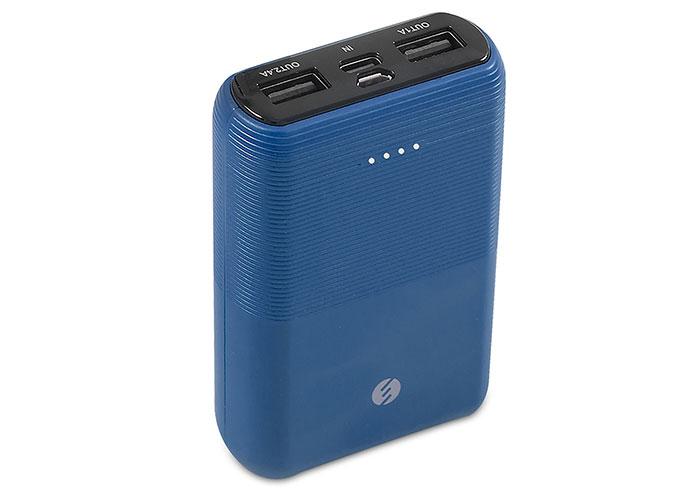 S-link IP-S110 10000mAh 2*Usb Port+Micro+Type C Powerbank Mavi Taşınabilir Pil Şarj Cihazı