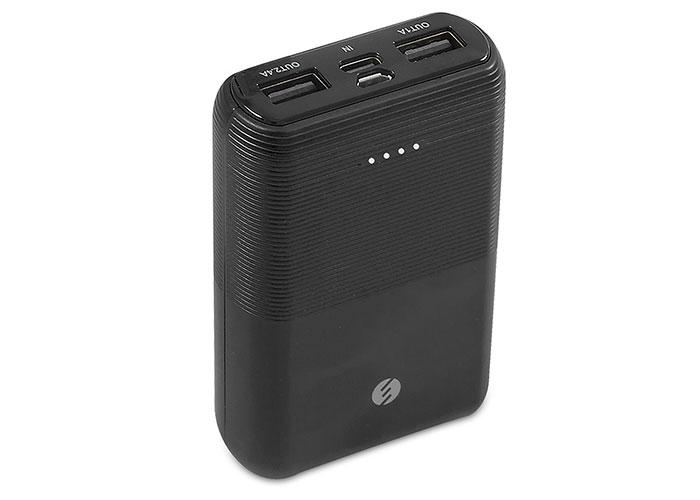 S-link IP-S110 10000mAh 2*Usb Port+Micro+Type C Powerbank Siyah Taşınabilir Pil Şarj Cihazı