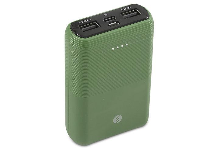 S-link IP-S110 10000mAh 2*Usb Port+Micro+Type C Powerbank Yeşil Taşınabilir Pil Şarj Cihazı