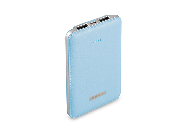 S-link IP-S500 5000mAh Powerbank Blue Portable Battery Charger