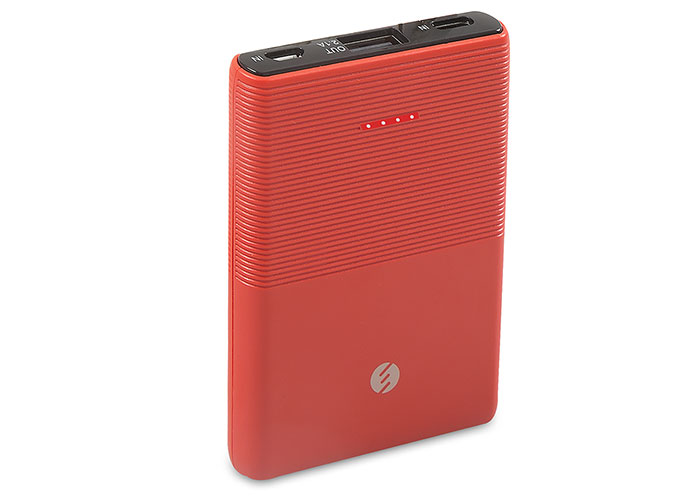 S-link IP-S50 5000mAh 1*Usb Port+Micro+Type C Powerbank Kırmızı Taşınabilir Pil Şarj Cihazı