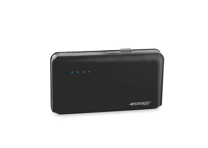 S-link Swapp IP-S55 6500mAh Süper İnce Siyah Sony Polimer Bataryalı Powerbank