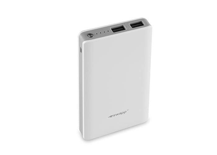 S-link Swapp IP-S60 12000mAh Polymer Battery Powerbank White Portable Battery Charger