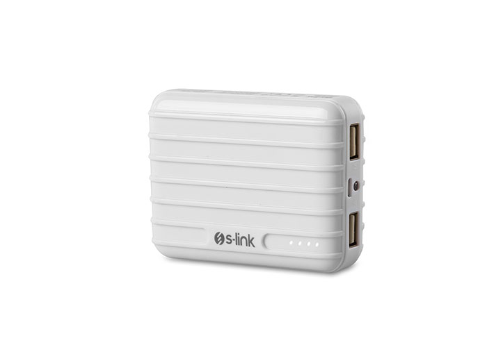 S-Link Swapp IP-T58 7800mAh 1A/2.1A 2*Usb White Portable Battery Charger